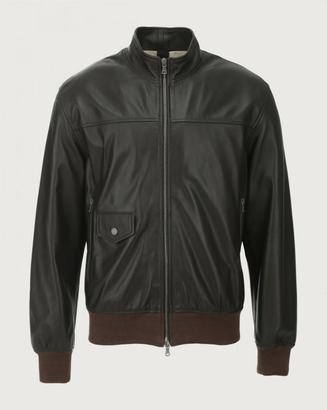 Orciani Nappa Nature leather jacket Leather Chocolate