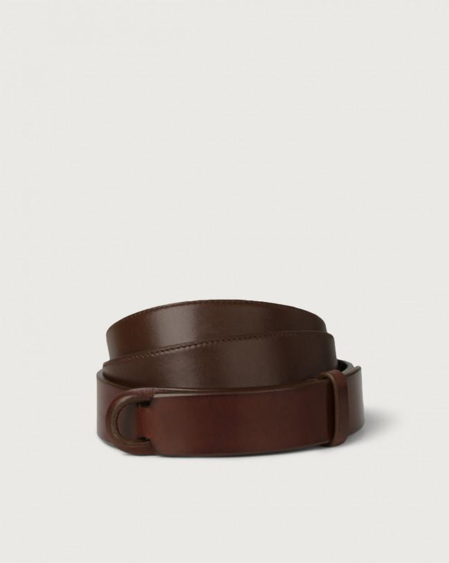 Orciani Bull leather Nobuckle belt Leather Burnt