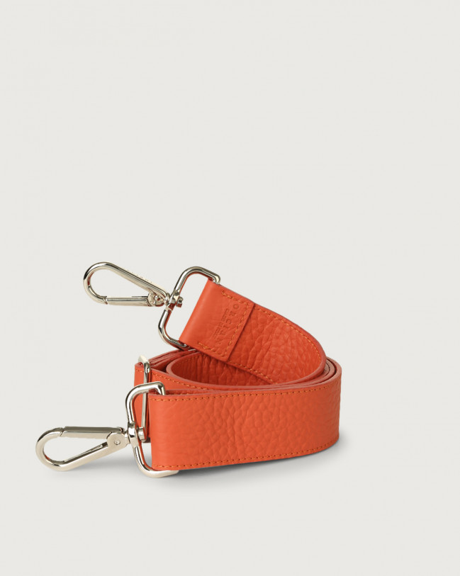 Orciani Soft adjustable leather strap Leather Coral