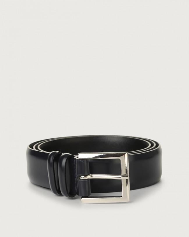 Orciani Calf classic leather belt Leather Deep Blue