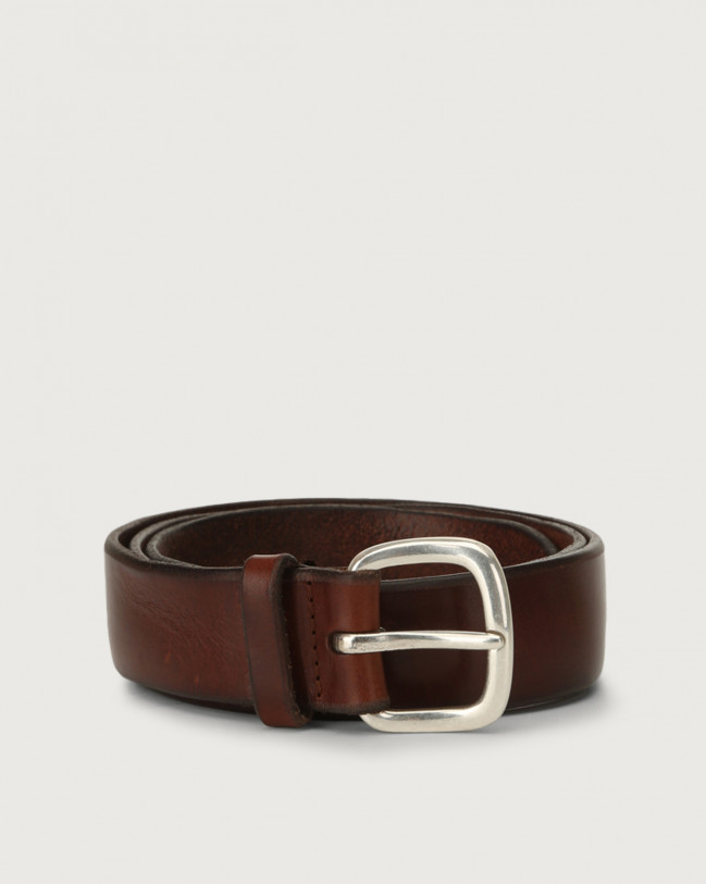 Orciani Bull Soft leather belt Leather Burnt
