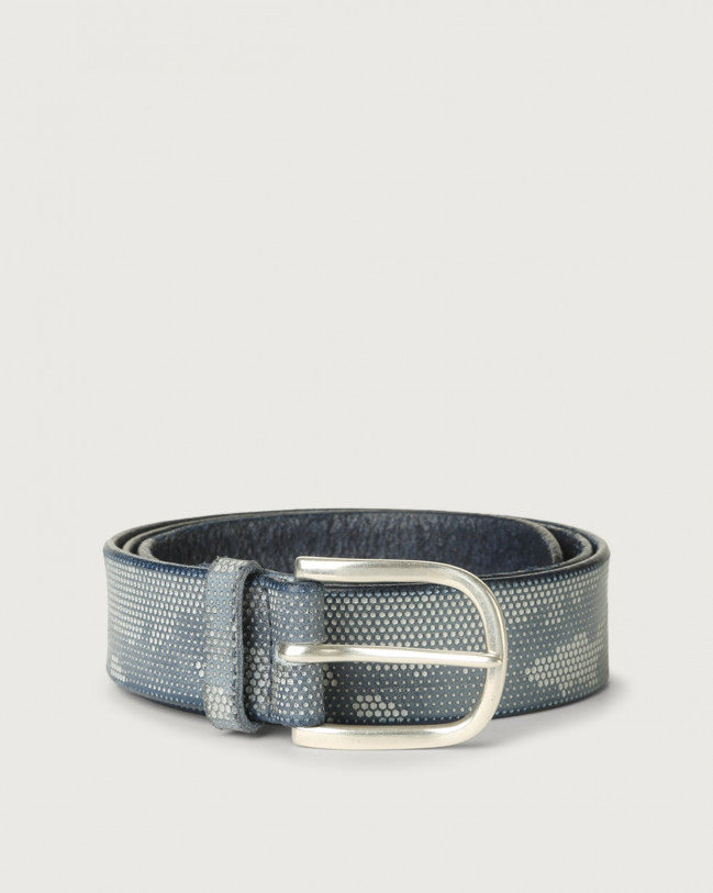 Orciani Stain Soapy leather belt Leather Denim