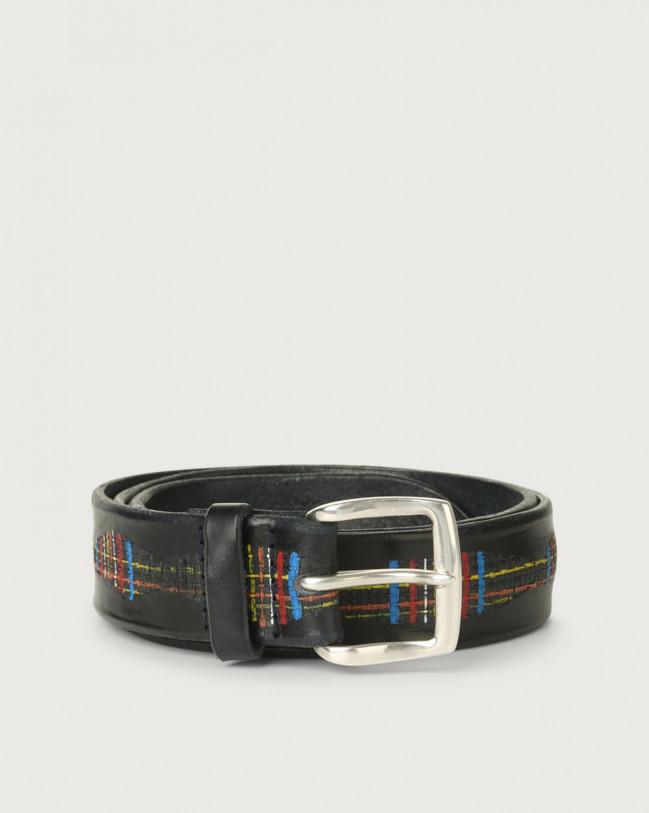 Orciani Scotland leather belt Leather Blue