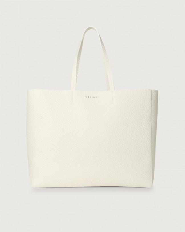 Orciani Le Sac Soft leather tote bag Leather White
