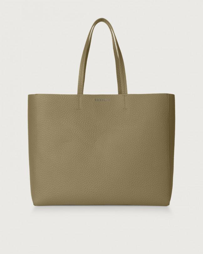 Orciani Le Sac Soft leather tote bag Leather Kaki