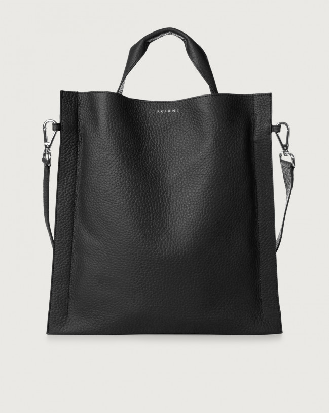 Orciani Iris Soft leather shoulder bag Leather Black
