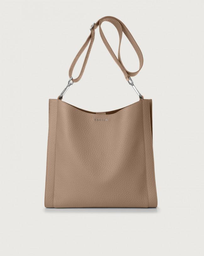 Orciani Iris Soft leather crossbody bag Leather Taupe