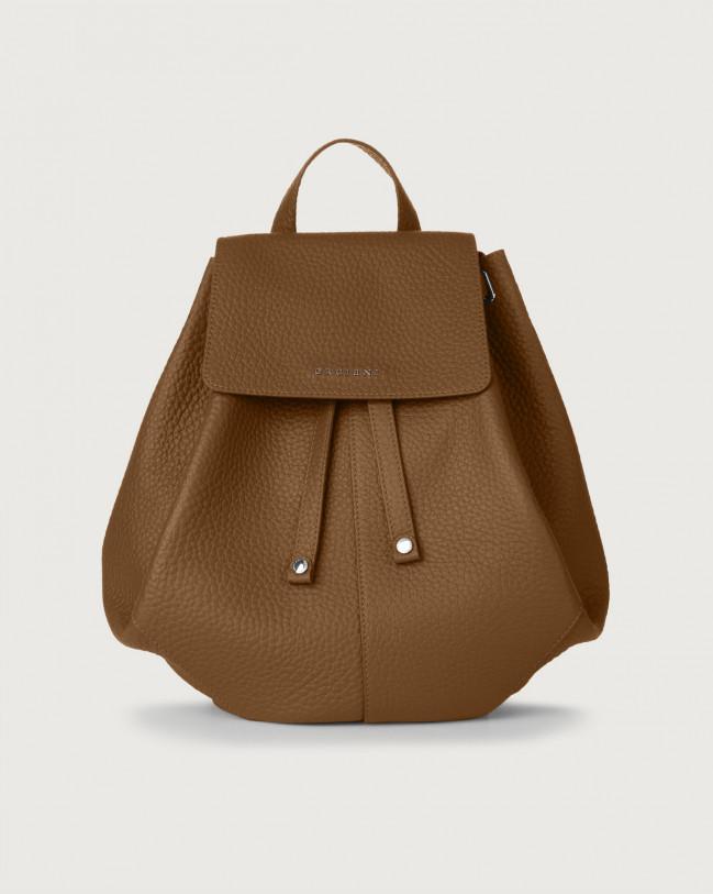 Orciani Iris Soft leather backpack Leather Caramel
