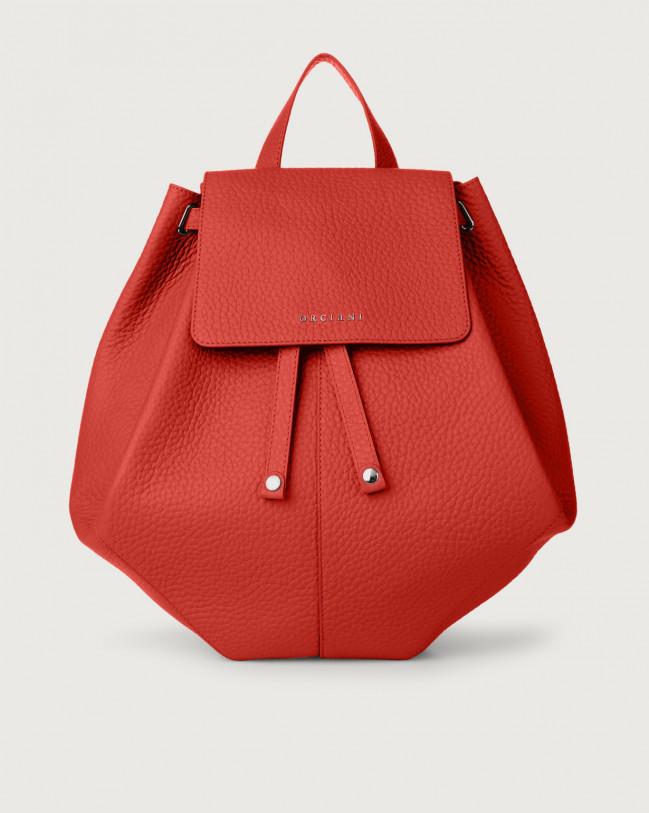 Orciani Iris Soft leather backpack Leather Marlboro red