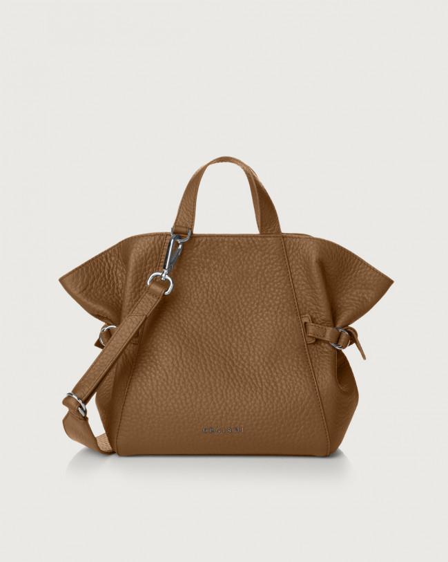 Orciani Fan Soft small leather handbag Leather Caramel
