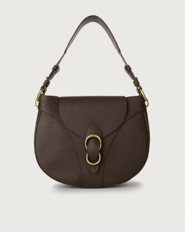 Orciani Beth Soft leather shoulder bag Leather Chocolate