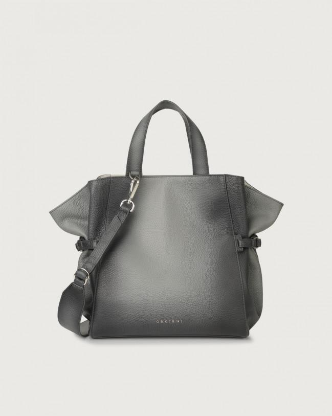 Fan Micron Deep medium leather handbag