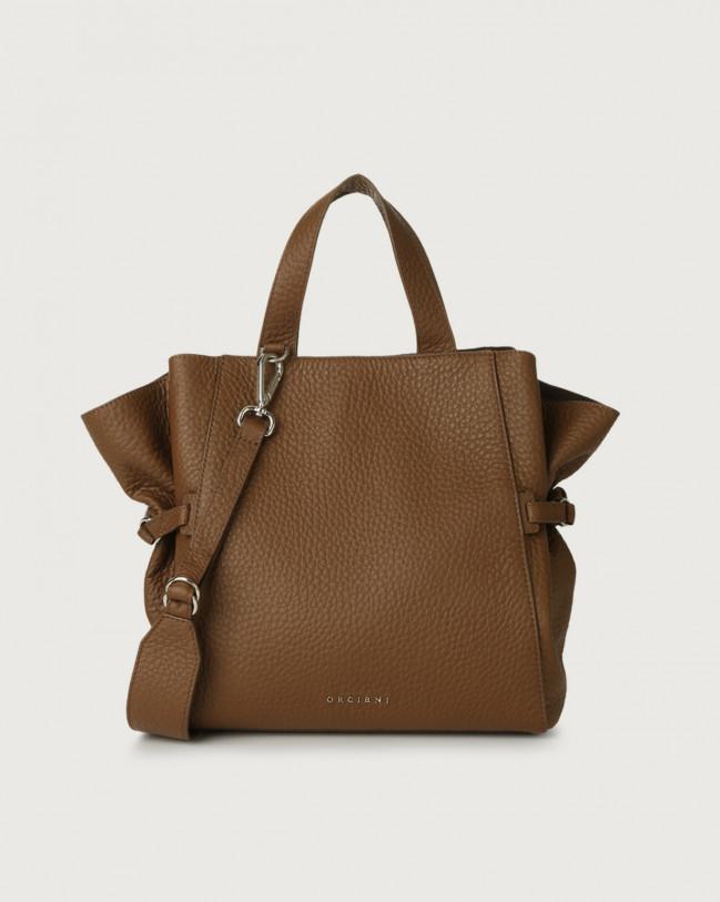 Orciani Fan Soft medium leather handbag Leather Caramel