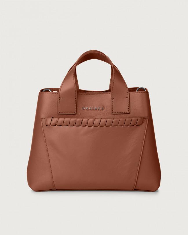 Orciani Nora Liberty leather handbag Leather Cognac