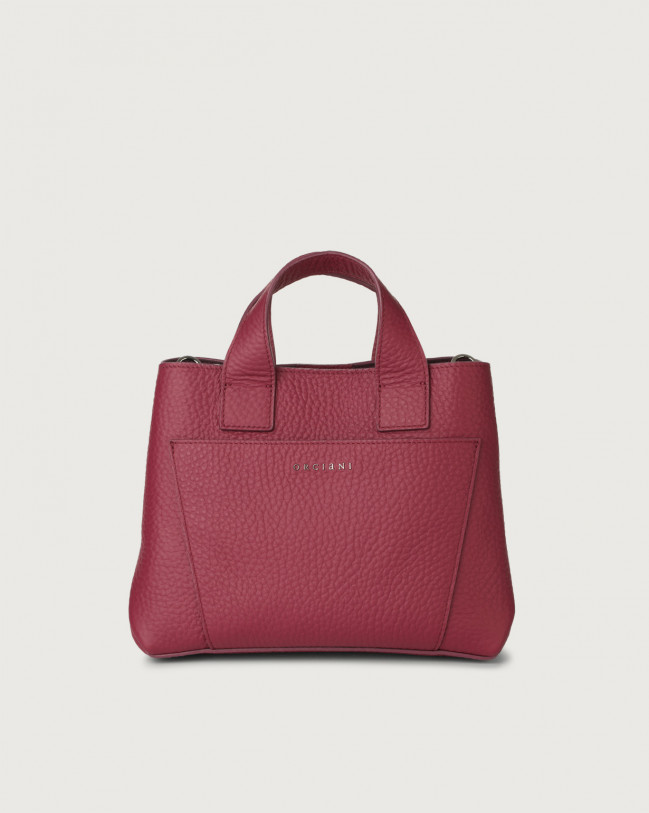 Orciani Nora Soft leather handbag Leather Purple