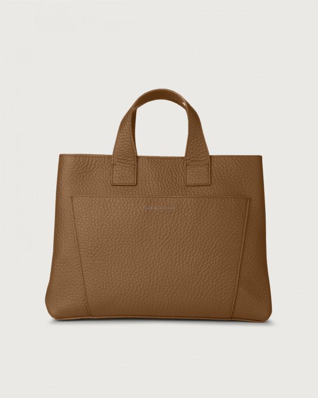 Orciani Nora Soft large leather handbag Caramel