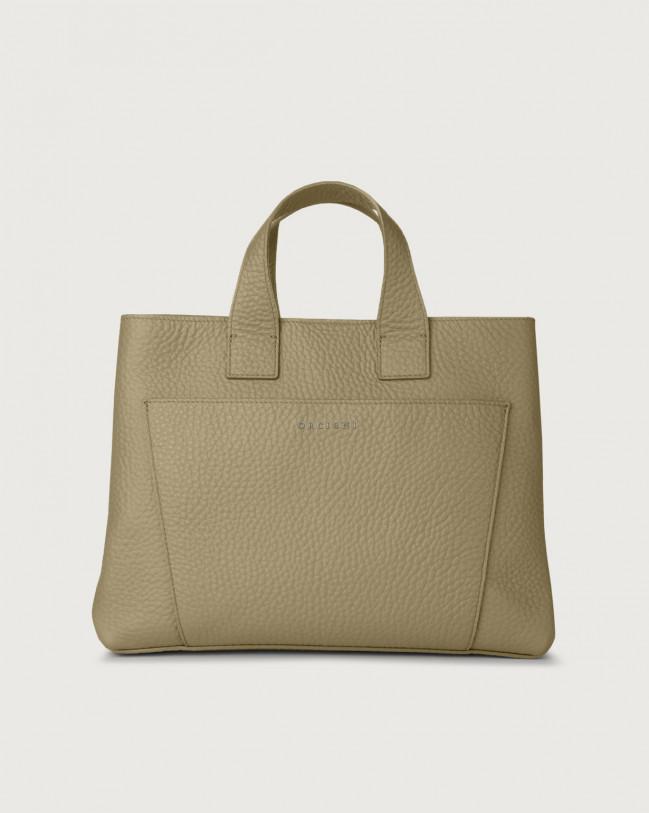 Orciani Nora Soft large leather handbag Leather Kaki