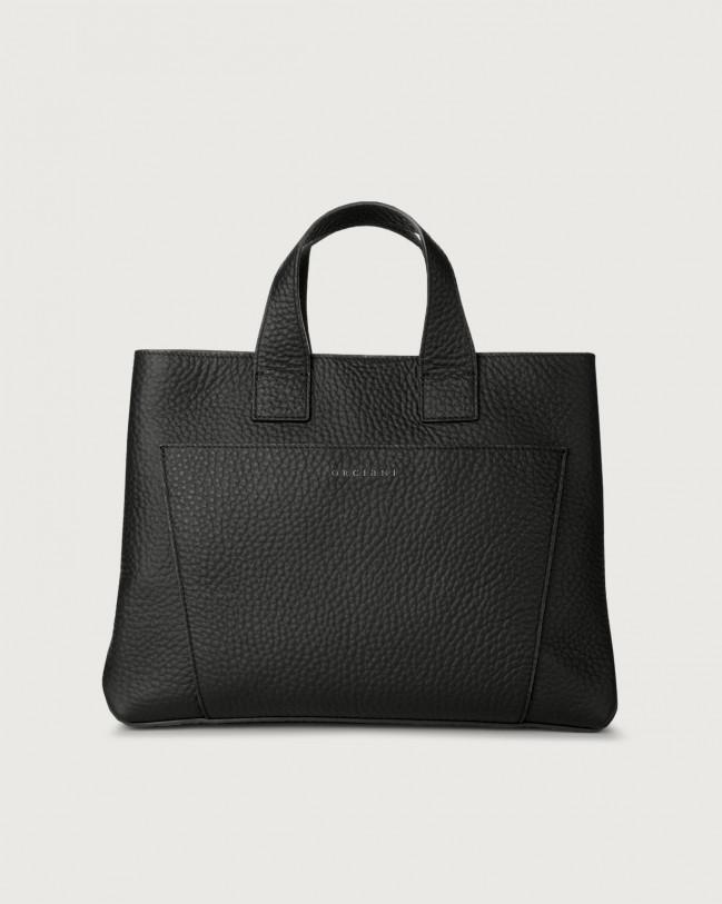 Orciani Nora Soft large leather handbag Black