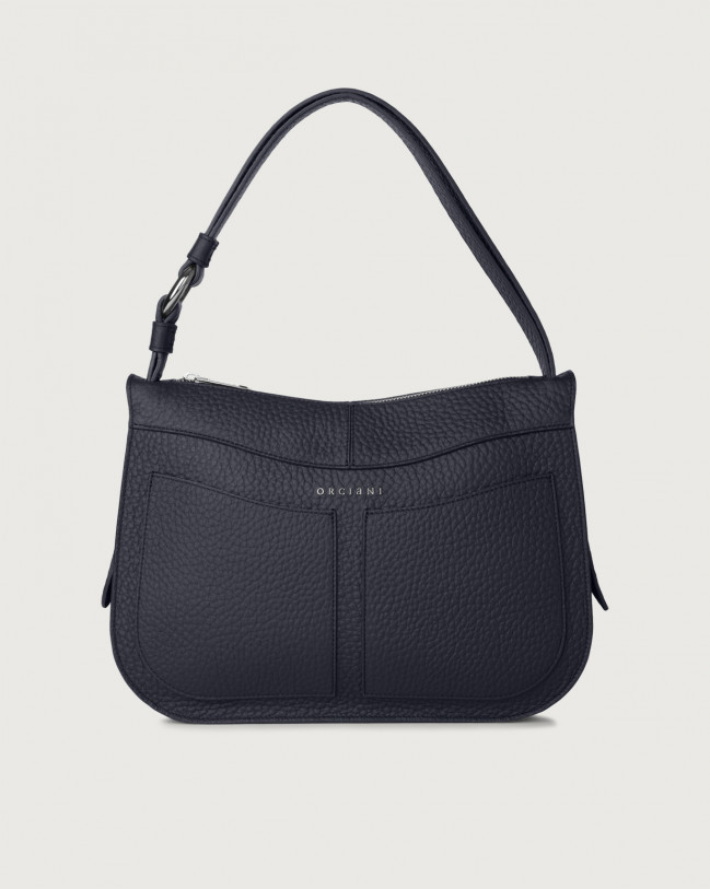 Orciani Ginger Soft medium leather shoulder bag Leather Navy