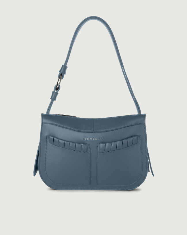 Orciani Ginger Liberty small leather shoulder bag Leather Denim