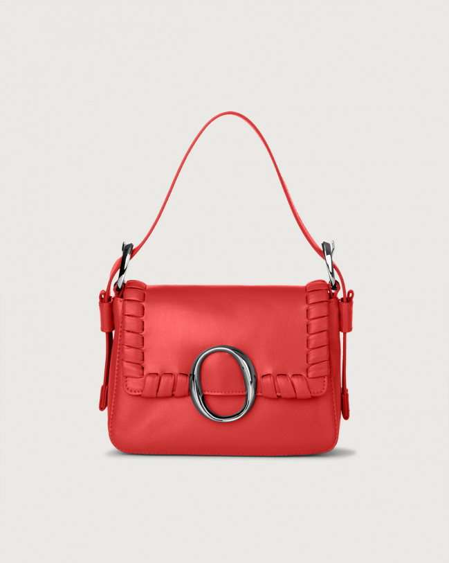 Orciani Soho Liberty leather mini bag with strap Leather Red
