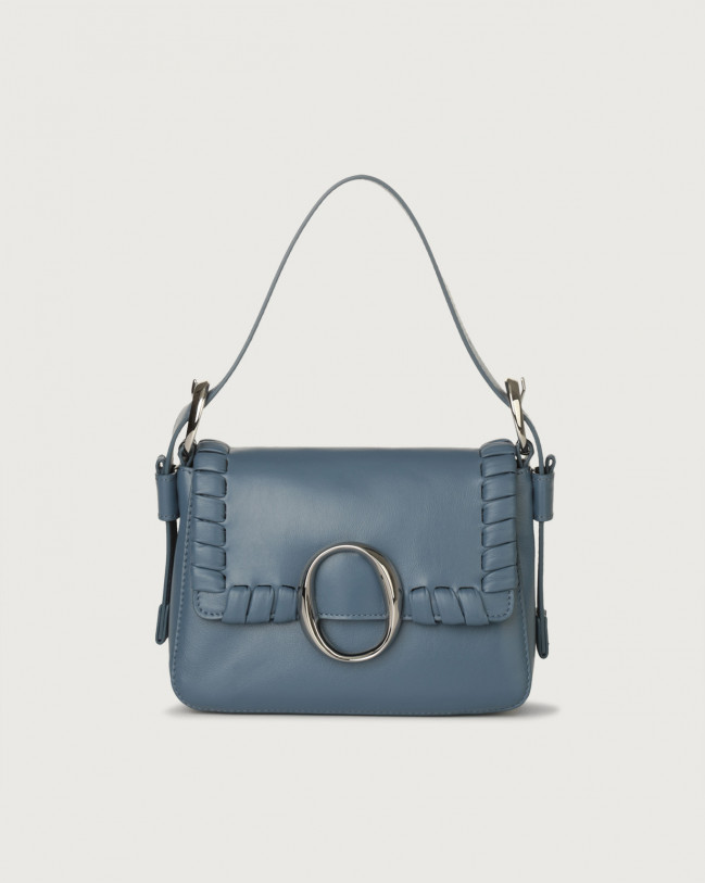 Orciani Soho Liberty leather mini bag with strap Leather Denim