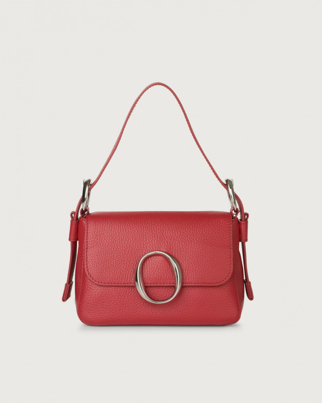 Orciani Soho Micron leather mini bag with strap Leather Ruby red