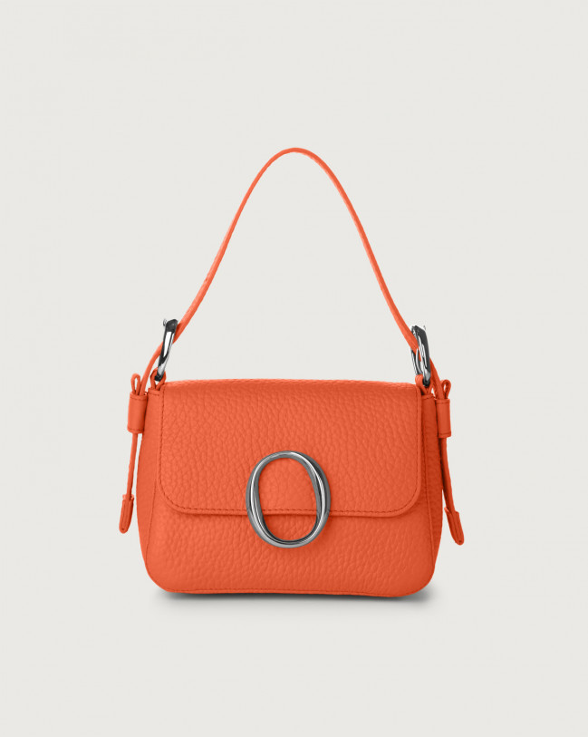 Orciani Soho Soft leather mini bag with strap Leather Coral