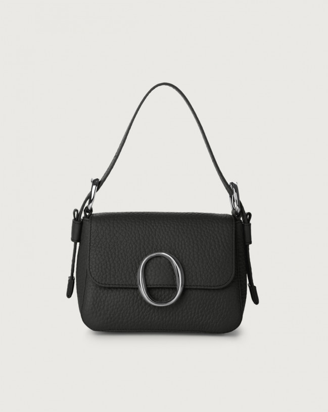 Orciani Soho Soft leather mini bag with strap Leather Black