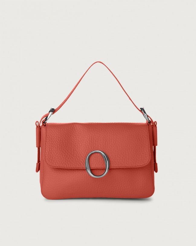 Orciani Soho Soft leather baguette bag with strap Leather Brick
