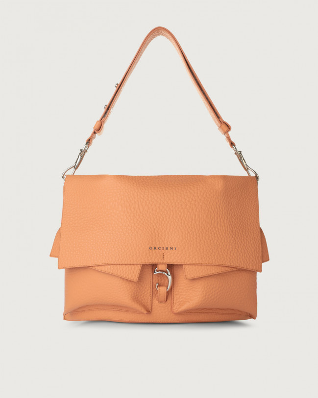 Orciani Scout Soft leather shoulder bag Leather Fard