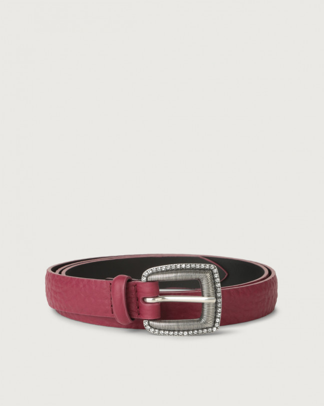 Orciani Soft thin leather belt Leather Purple