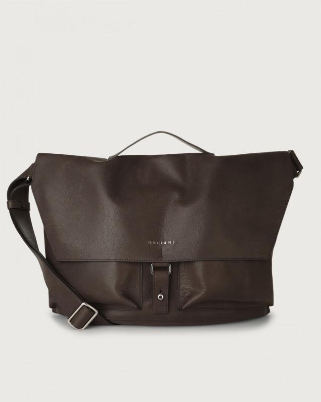 Orciani Chevrette nabuck leather crossbody bag Leather Chocolate