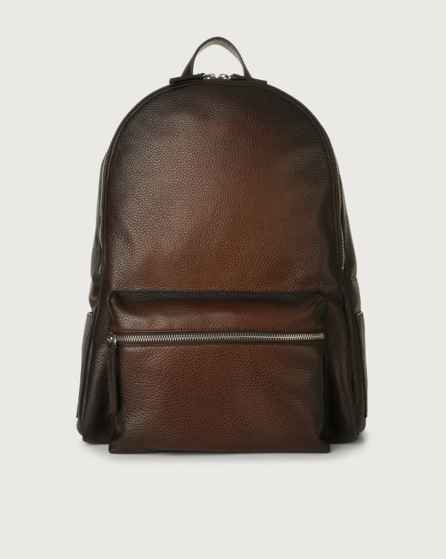 Orciani Micron Deep leather backpack Leather Brown