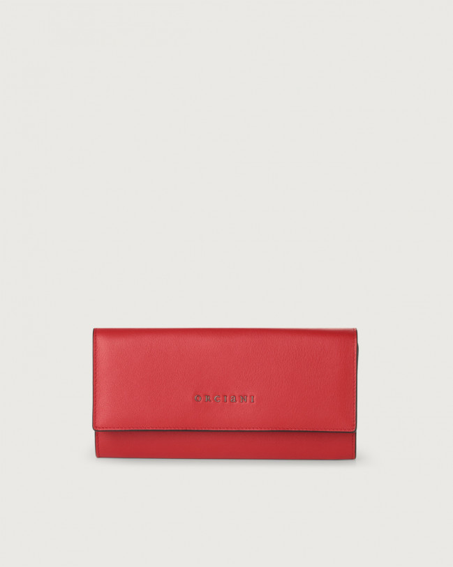 Orciani Liberty leather envelope wallet Leather Red