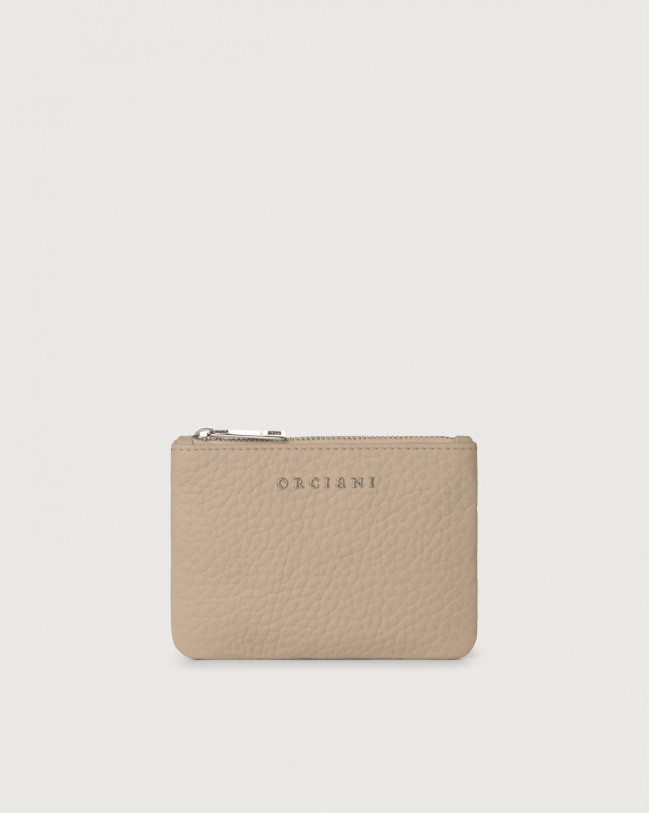 Orciani Soft small leather pouch Leather Sand