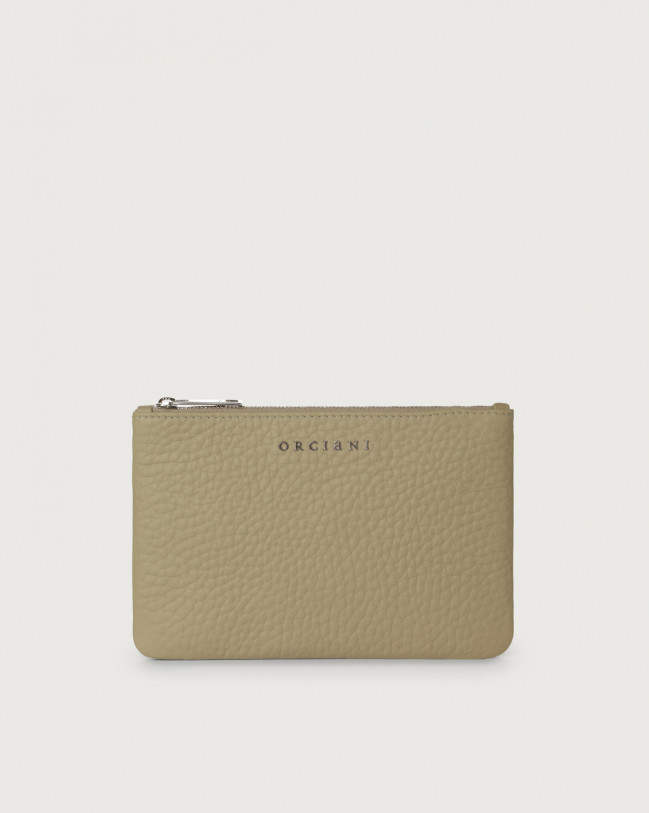 Orciani Soft leather pouch Leather Kaki