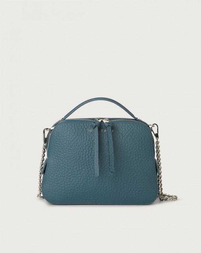 Orciani Soft leather mini bag Leather Blue