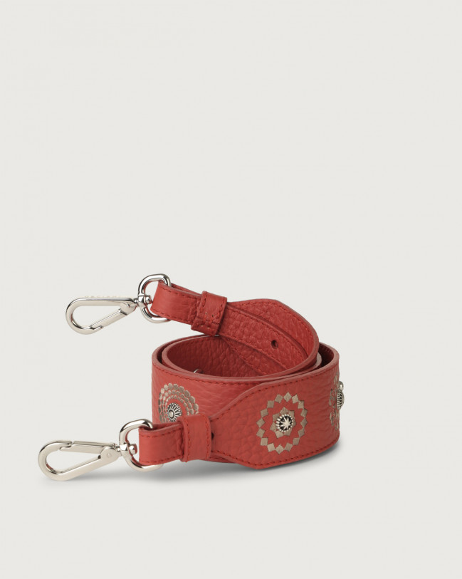 Orciani Soft embroidered leather strap Leather Brick