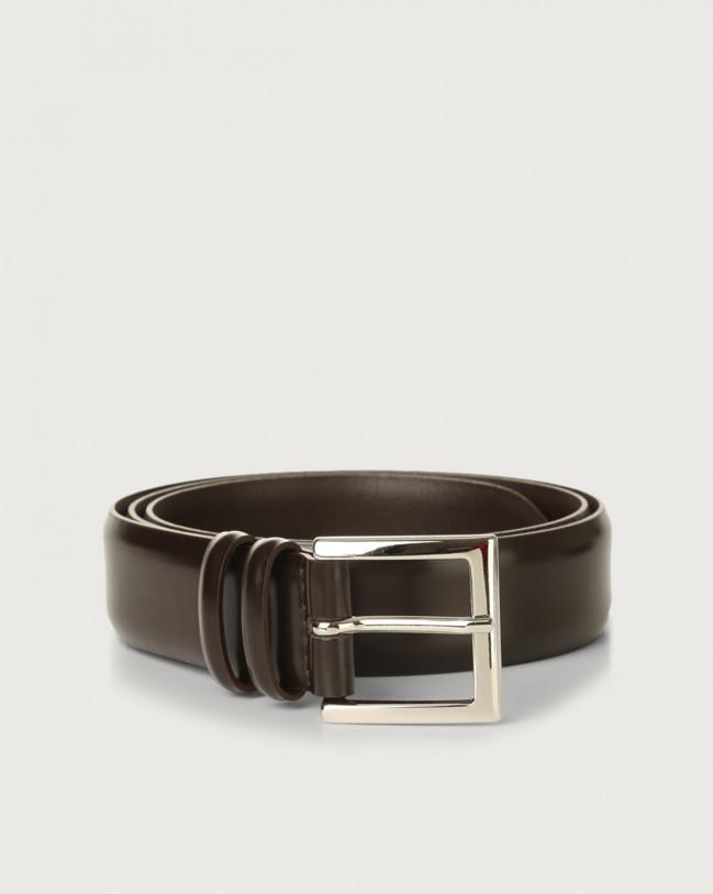 Orciani Calf classic leather belt Leather Chocolate