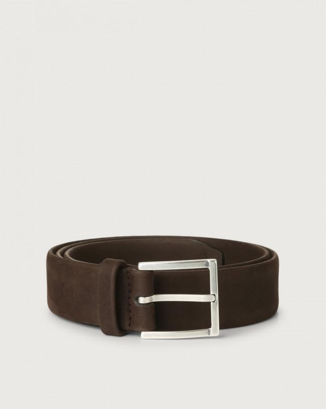 Orciani Long Beach nabuck leather belt Nabuck Chocolate