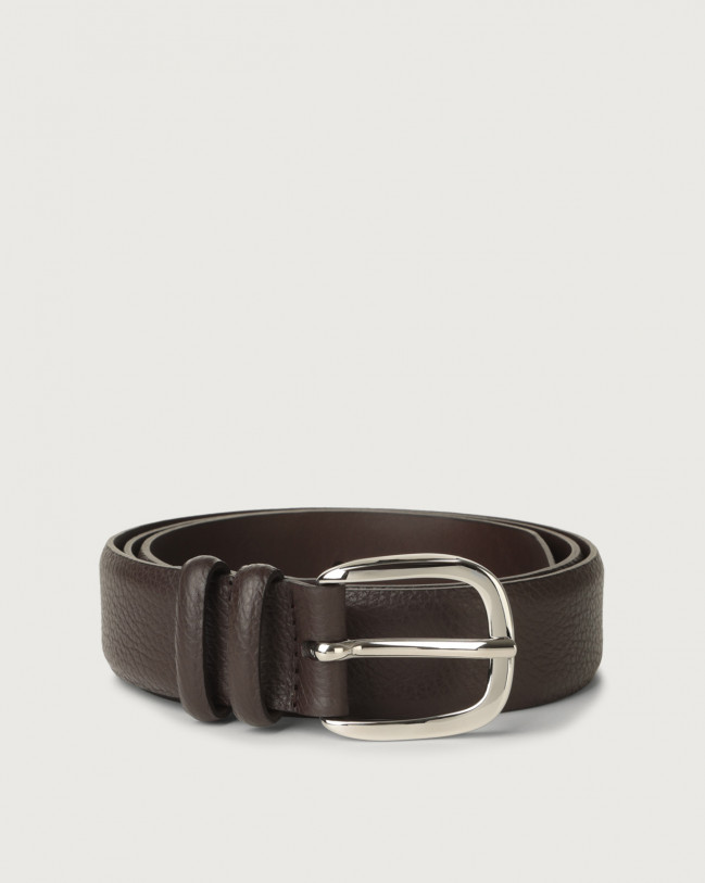 Orciani Dollaro leather belt Leather Ebony
