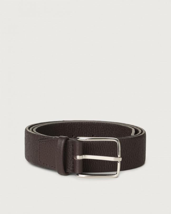 Orciani Micron stretch leather belt Leather Ebony