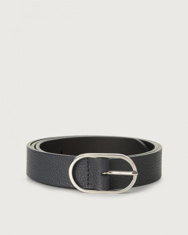 Orciani Dollaro leather belt Leather Navy