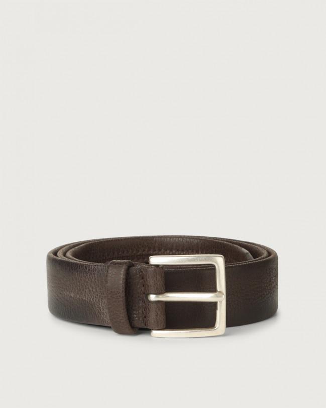 Orciani Chevrette nabuck leather belt Nabuck Chocolate
