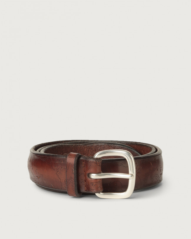 Orciani Bull Soft leather belt Leather Brown