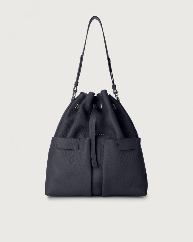 Orciani Tessa Soft large leather bucket bag Leather Navy