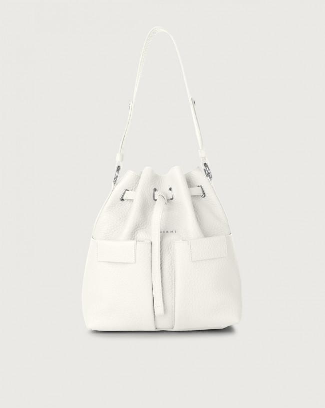 Orciani Tessa Soft medium leather bucket bag Leather White