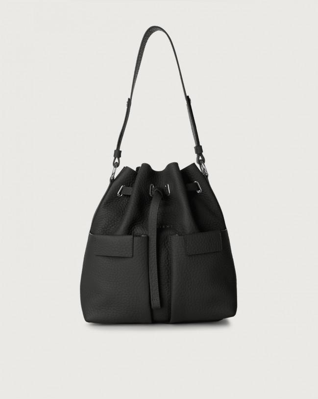 Orciani Tessa Soft medium leather bucket bag Leather Black