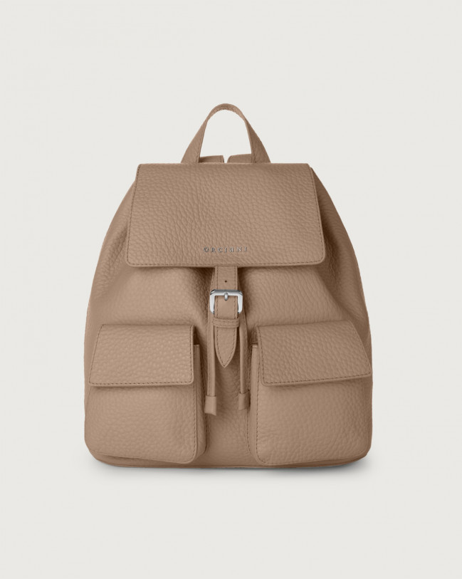 Orciani Charlotte Soft leather backpack Leather Taupe